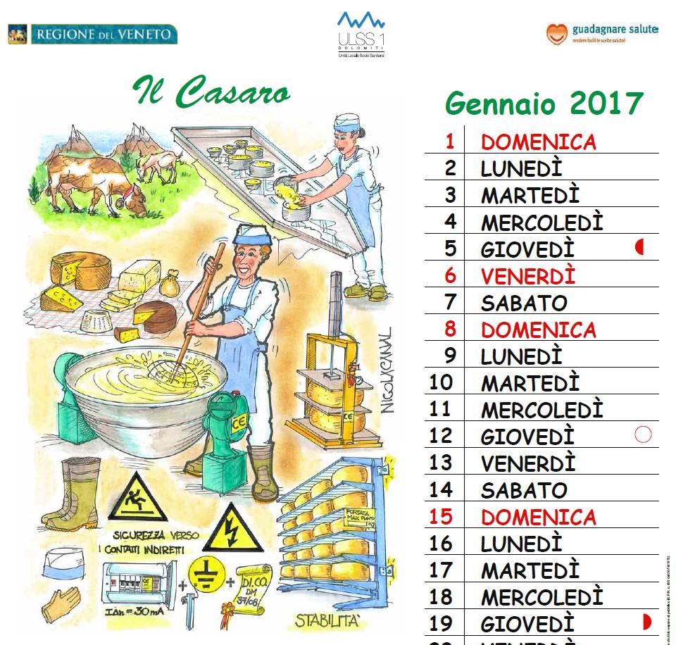 Calendario 2017 della Sicurezza di Nicola Canal