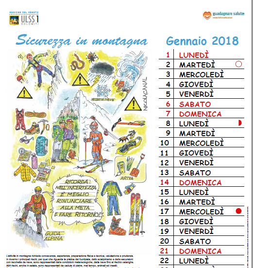Calendario 2018 sicurezza ing. Nicola Canal