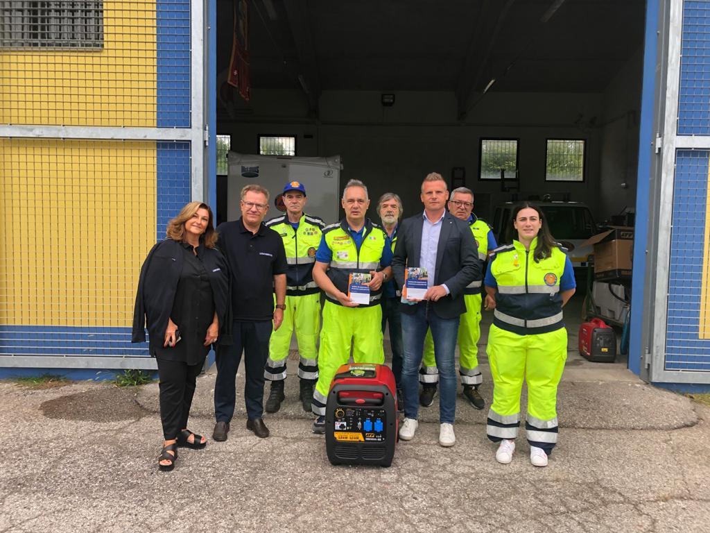 Lisa Servizi dona un gruppo elettrogeno alla Protezione Civile di Martellago