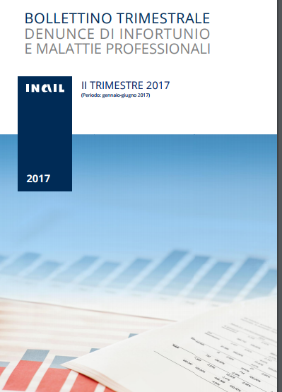 Inail Statistiche infortuni II trimestre 2017