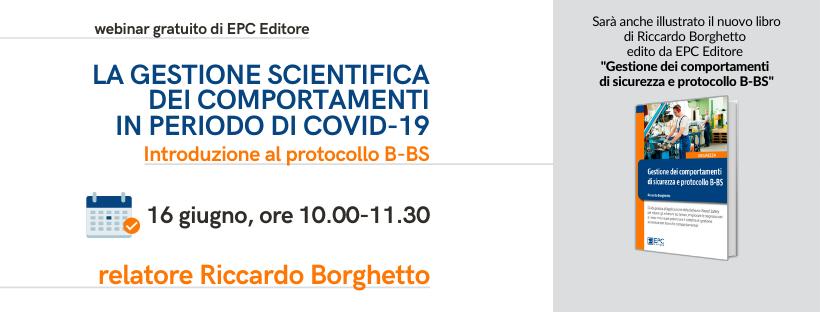 """Webinar gratuito: """"La gestione scientifica dei comportamenti in periodo di covid-19. Introduzione al protocollo b-bs"""""""