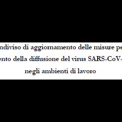 Aggiornamento protocollo anti contagio covid-19 2021