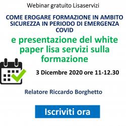 Webinar Gratuito: Come erogare formazione in ambito sicurezza in periodo di emergenza Covid