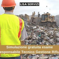 Simulazione esame Responsabile Tecnico Gestione Rifiuti gratuita