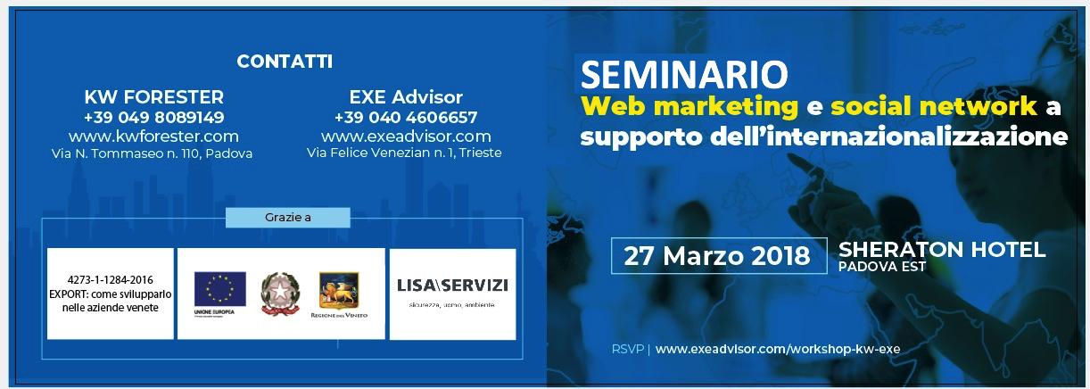 SEMINARIO Web marketing e social network a supporto dell'internazionalizzazione